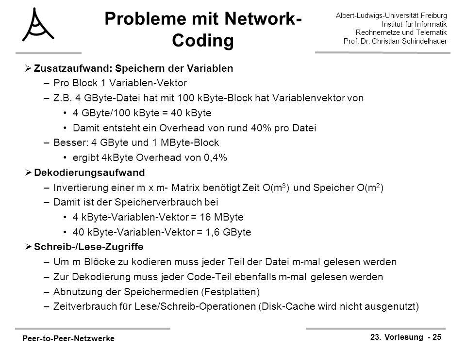 Probleme mit Network-Coding
