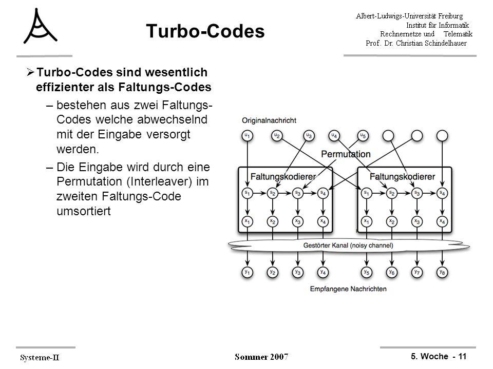 Turbo-Codes Turbo-Codes sind wesentlich effizienter als Faltungs-Codes