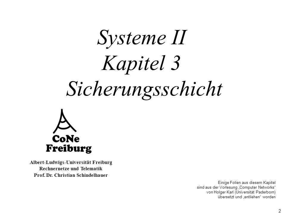 Systeme II Kapitel 3 Sicherungsschicht