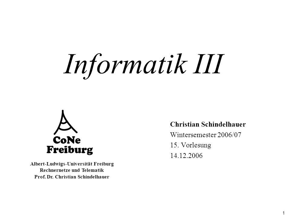 Informatik III Christian Schindelhauer Wintersemester 2006/07