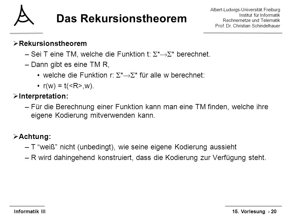 Das Rekursionstheorem
