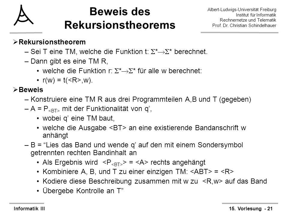 Beweis des Rekursionstheorems