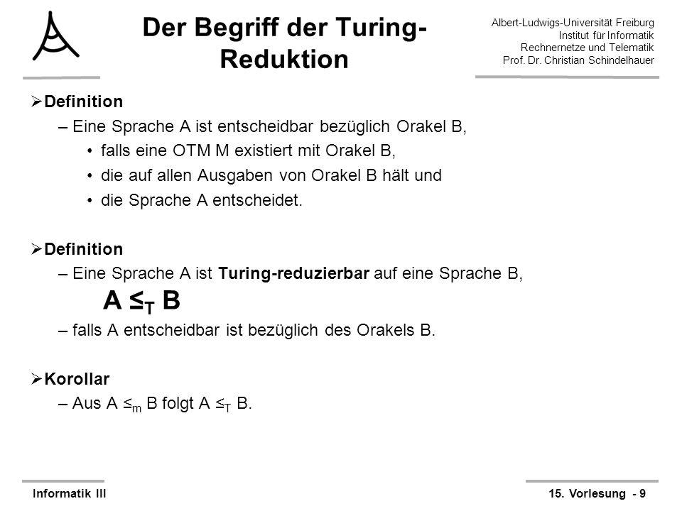Der Begriff der Turing-Reduktion