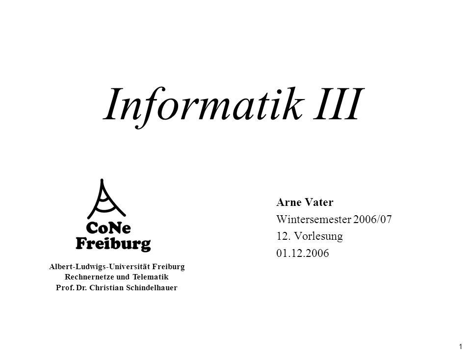Arne Vater Wintersemester 2006/07 12. Vorlesung 01.12.2006