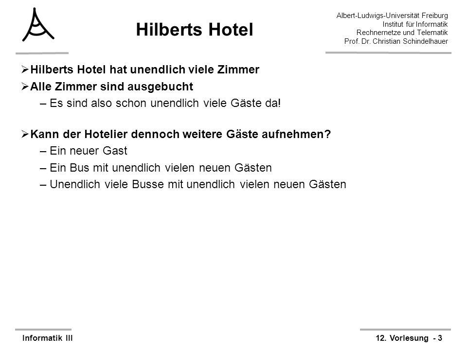 Hilberts Hotel Hilberts Hotel hat unendlich viele Zimmer