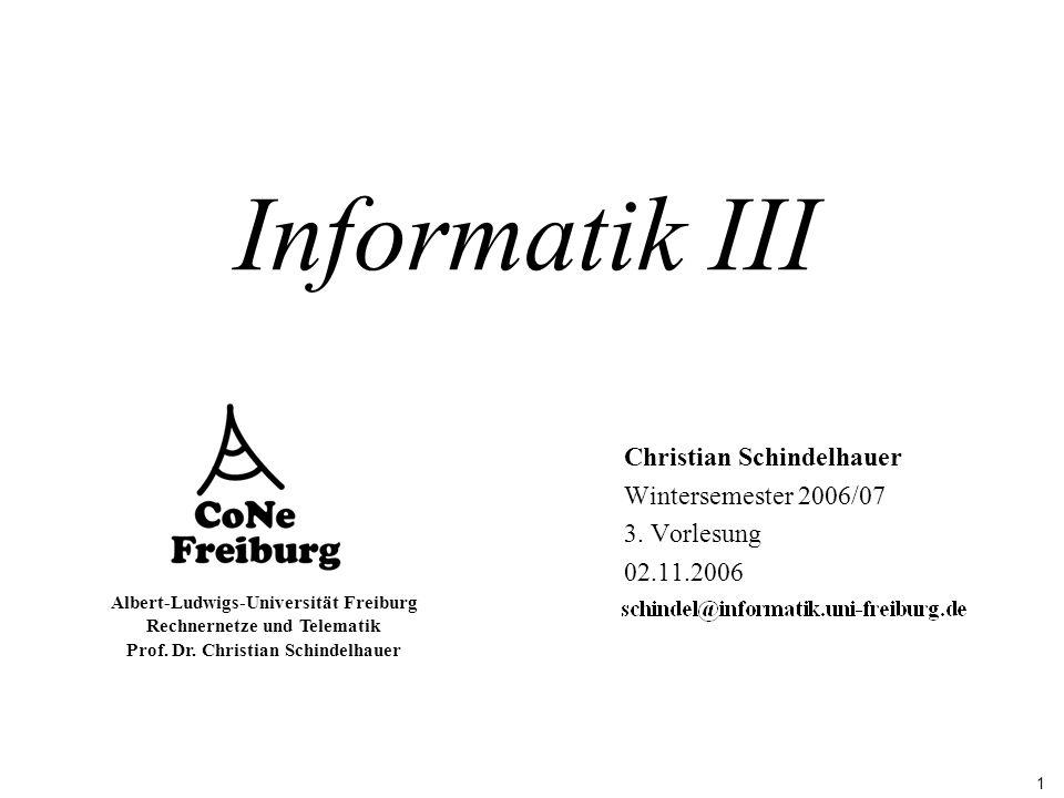 Christian Schindelhauer Wintersemester 2006/07 3. Vorlesung 02.11.2006