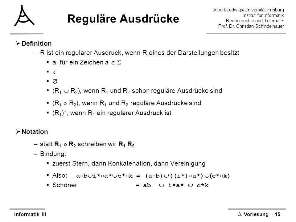Reguläre Ausdrücke Definition