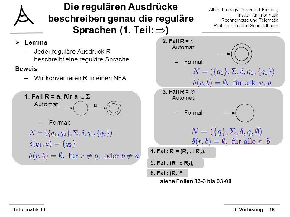 Die regulären Ausdrücke beschreiben genau die reguläre Sprachen (1
