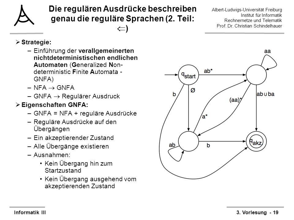 Die regulären Ausdrücke beschreiben genau die reguläre Sprachen (2