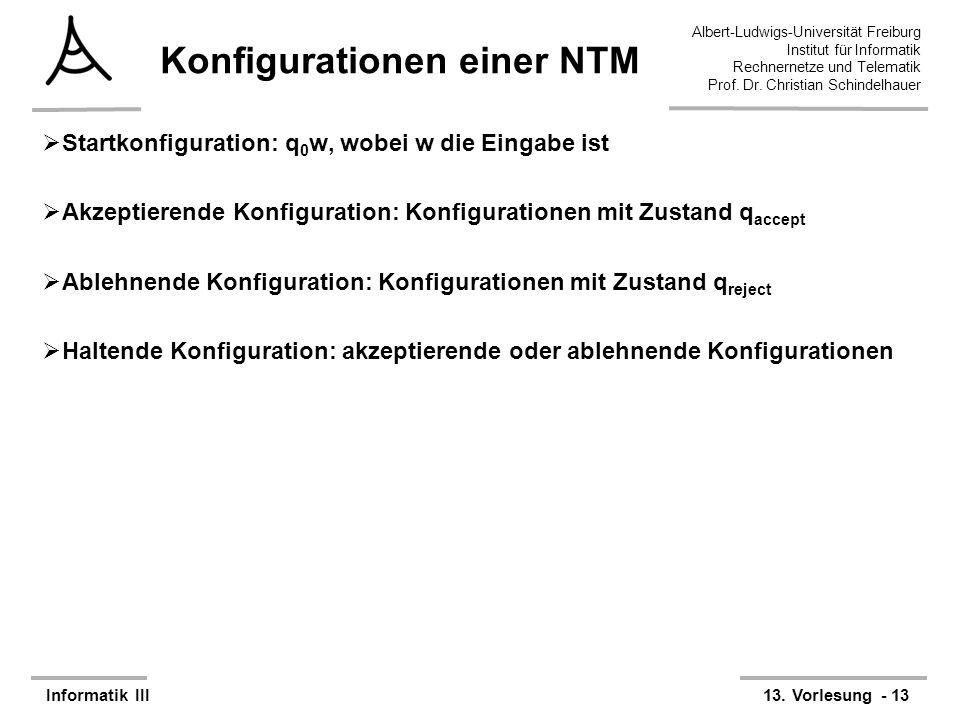 Konfigurationen einer NTM