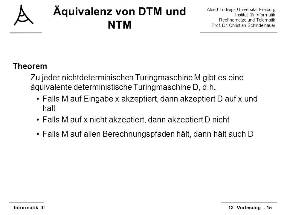 Äquivalenz von DTM und NTM