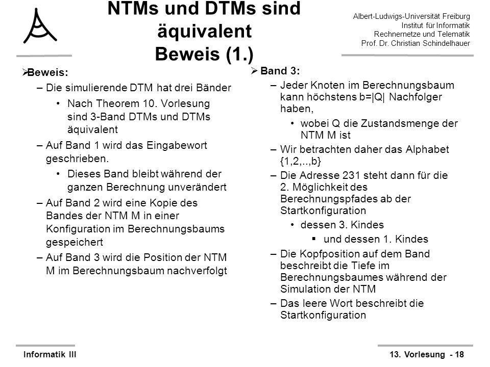 NTMs und DTMs sind äquivalent Beweis (1.)