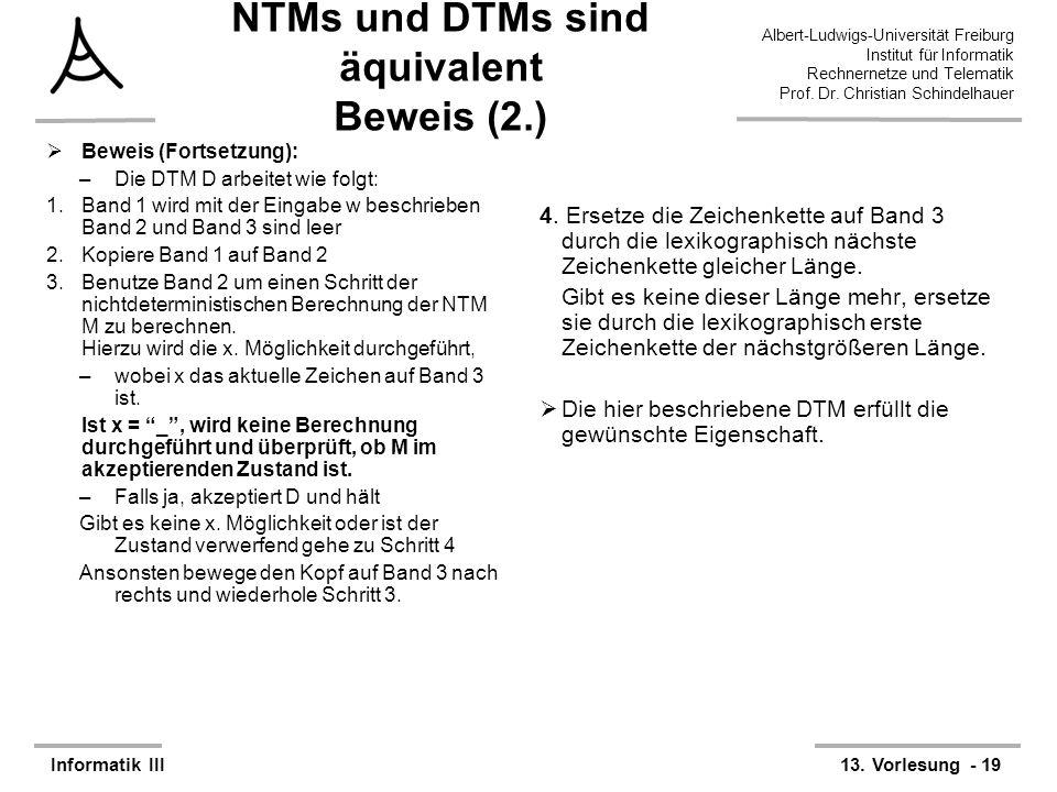 NTMs und DTMs sind äquivalent Beweis (2.)