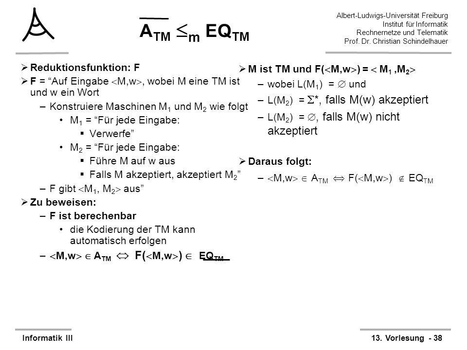 ATM m EQTM Reduktionsfunktion: F