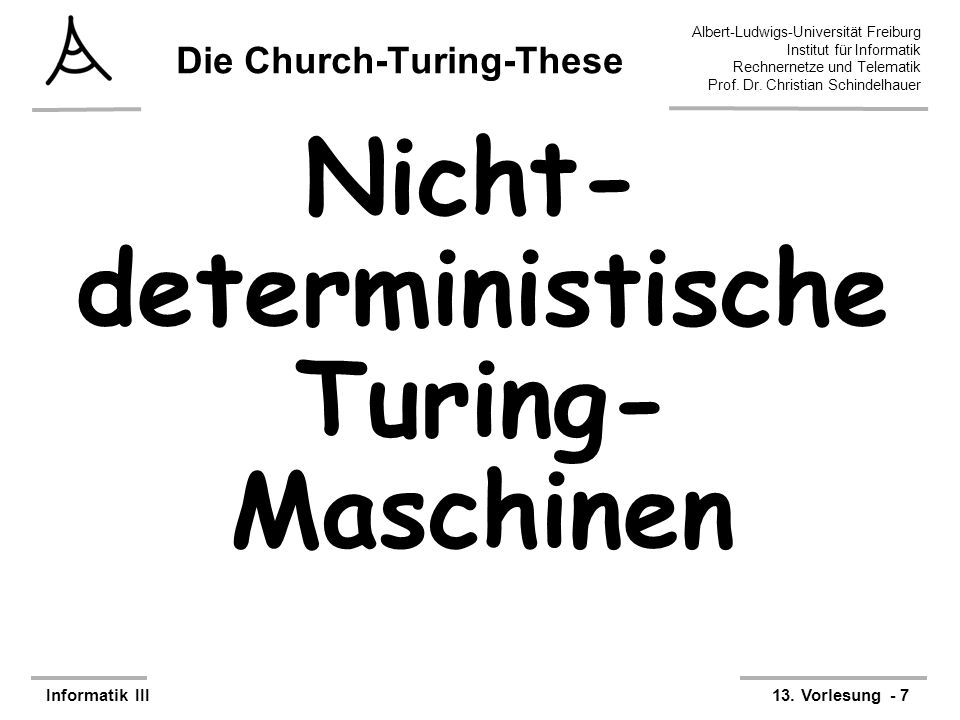 Die Church-Turing-These