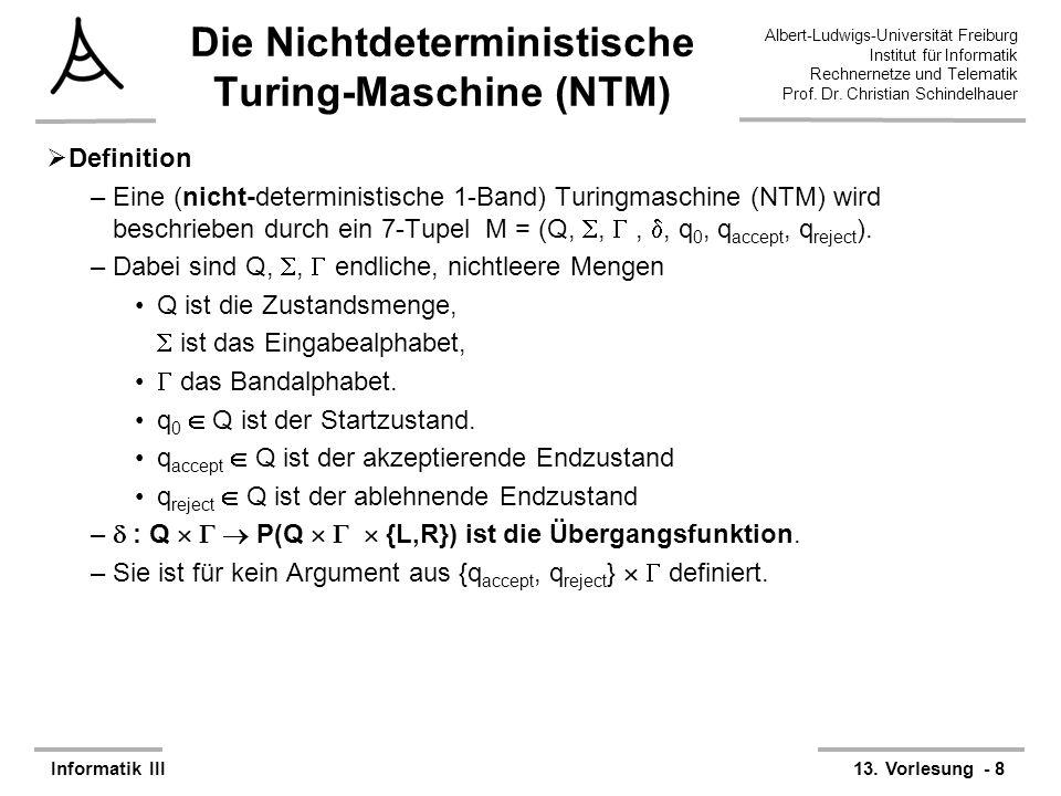 Die Nichtdeterministische Turing-Maschine (NTM)