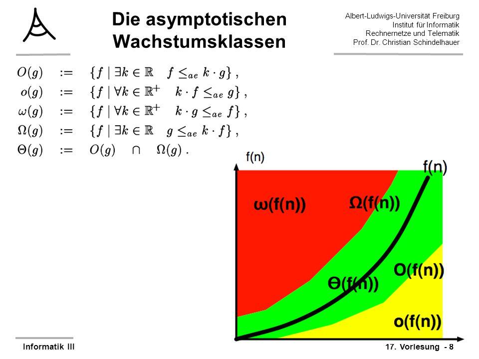 Die asymptotischen Wachstumsklassen