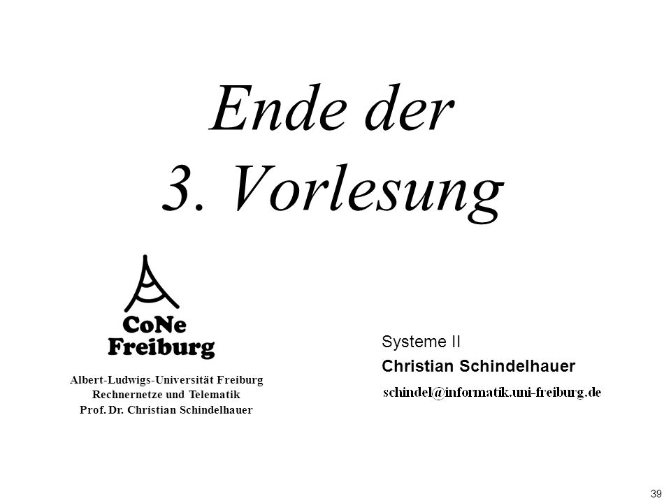 Systeme II Christian Schindelhauer
