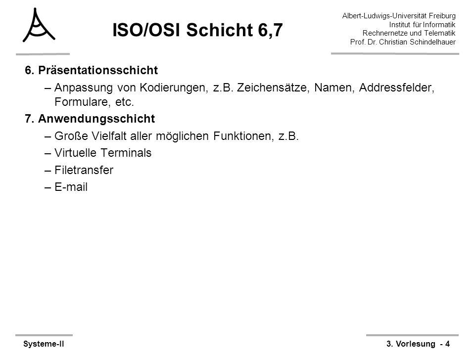 ISO/OSI Schicht 6,7 6. Präsentationsschicht