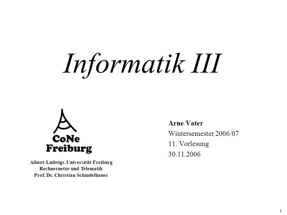 Arne Vater Wintersemester 2006/07 11. Vorlesung 30.11.2006