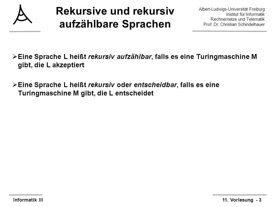 Rekursive und rekursiv aufzählbare Sprachen
