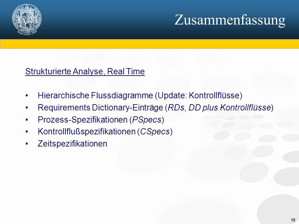 Zusammenfassung Strukturierte Analyse, Real Time