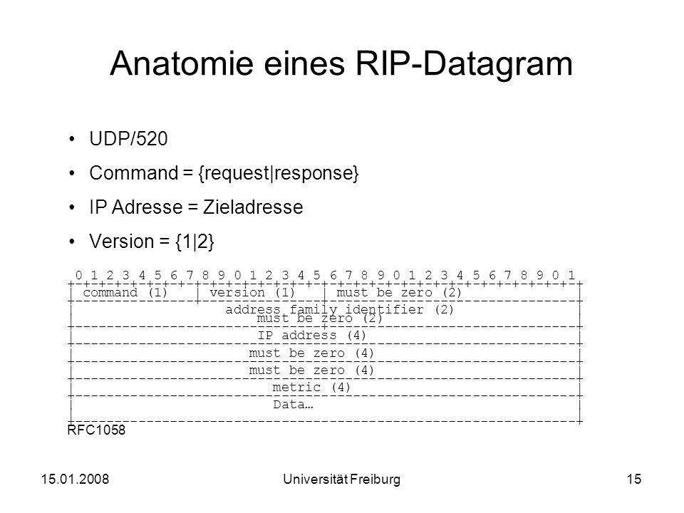 Anatomie eines RIP-Datagram