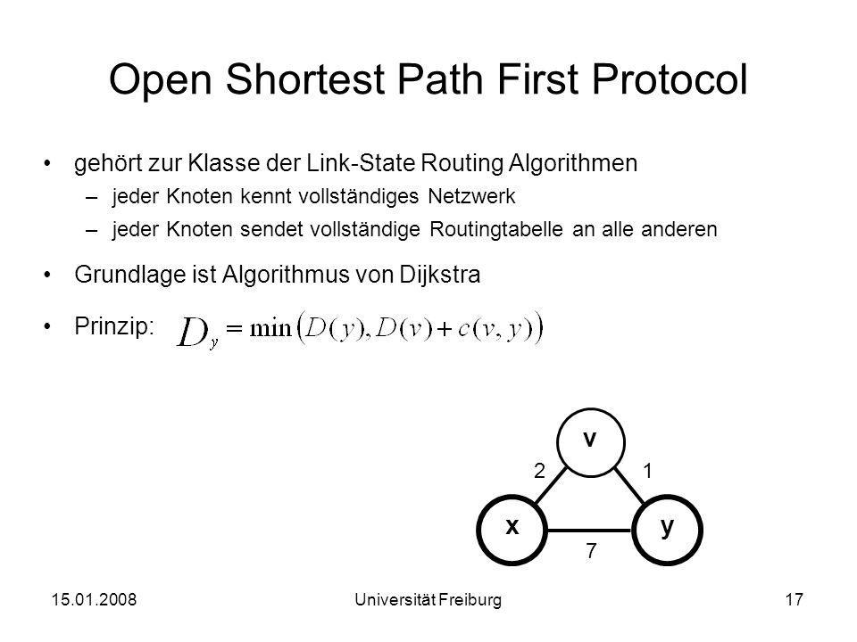 Open Shortest Path First Protocol