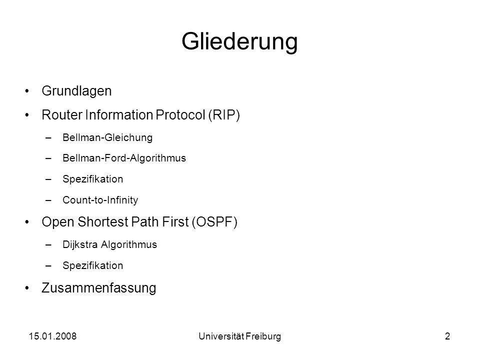 Gliederung Grundlagen Router Information Protocol (RIP)