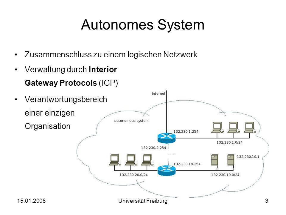 Autonomes System Zusammenschluss zu einem logischen Netzwerk
