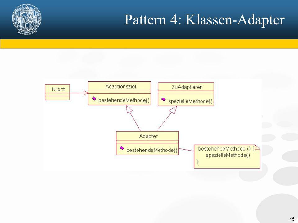 Pattern 4: Klassen-Adapter