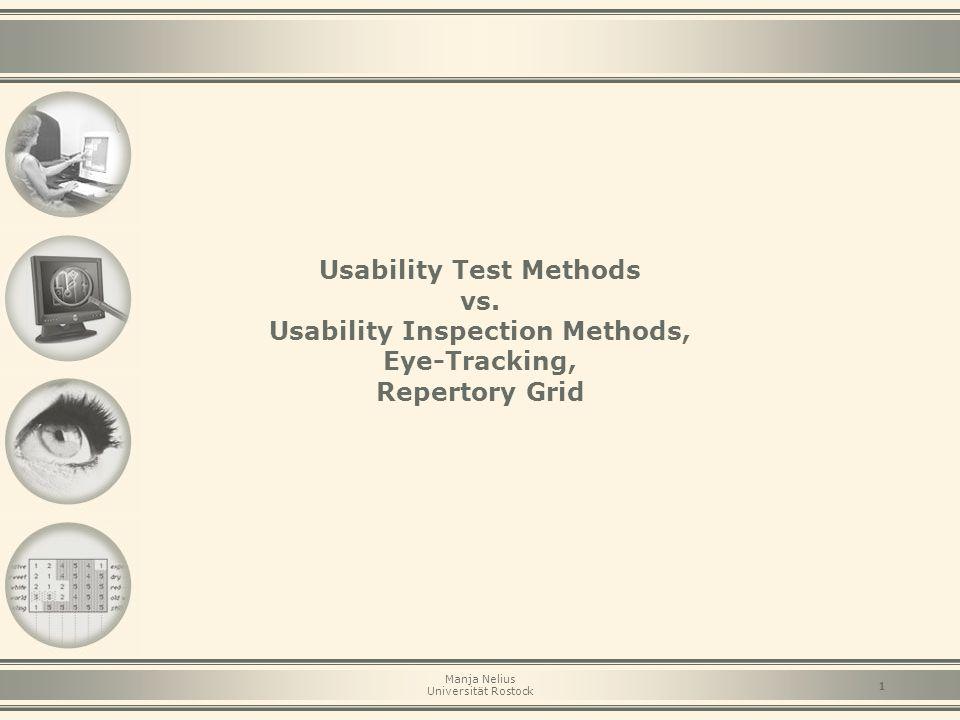 Usability Test Methods vs