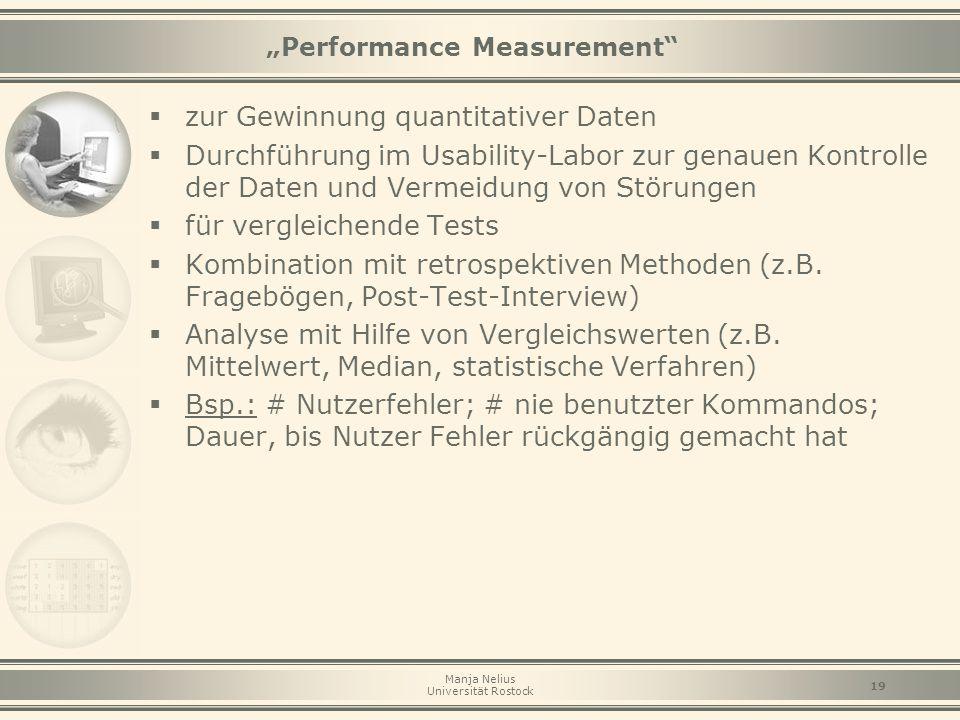 """Performance Measurement"