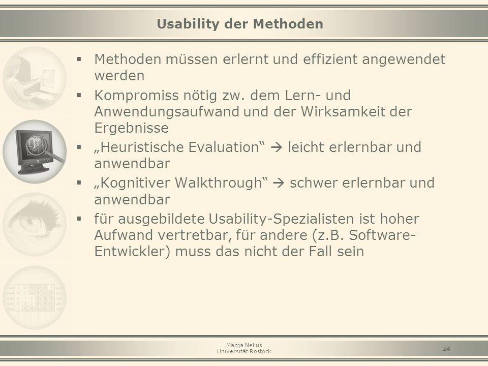 Usability der Methoden