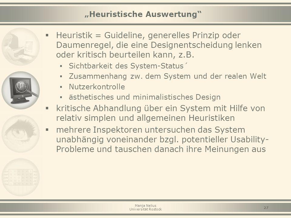 """""""Heuristische Auswertung"""