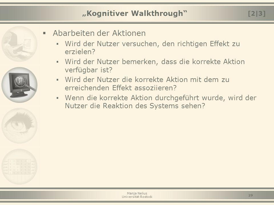 """""""Kognitiver Walkthrough"""