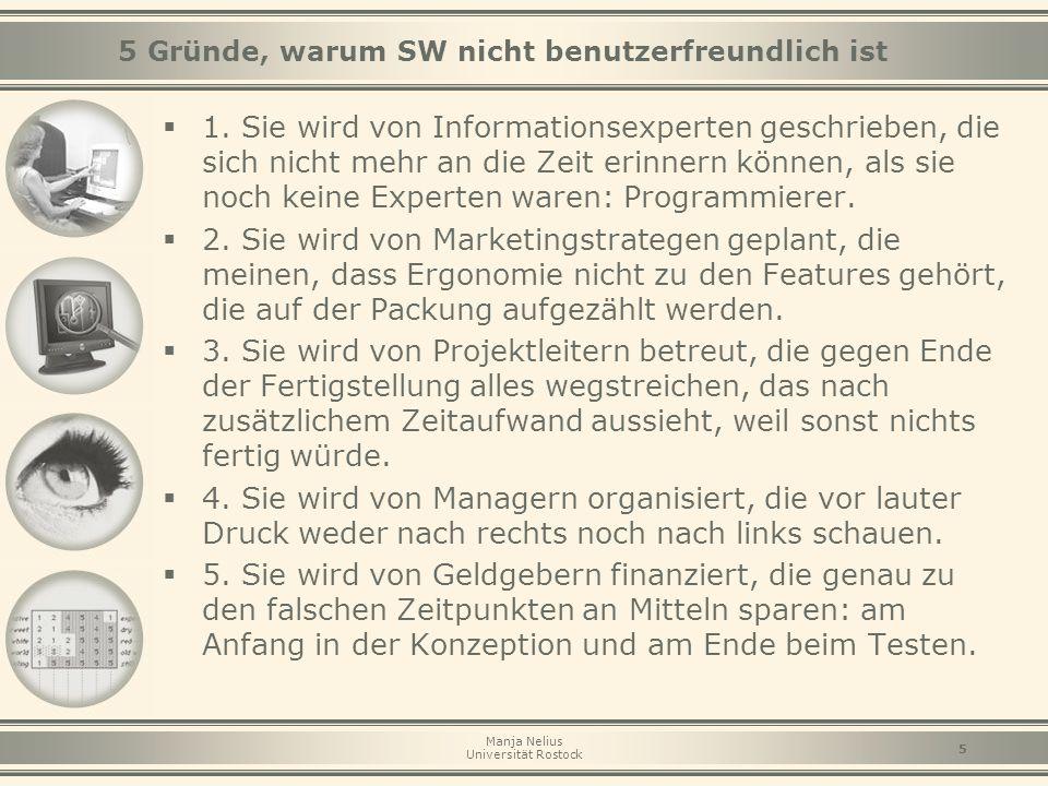 5 Gründe, warum SW nicht benutzerfreundlich ist
