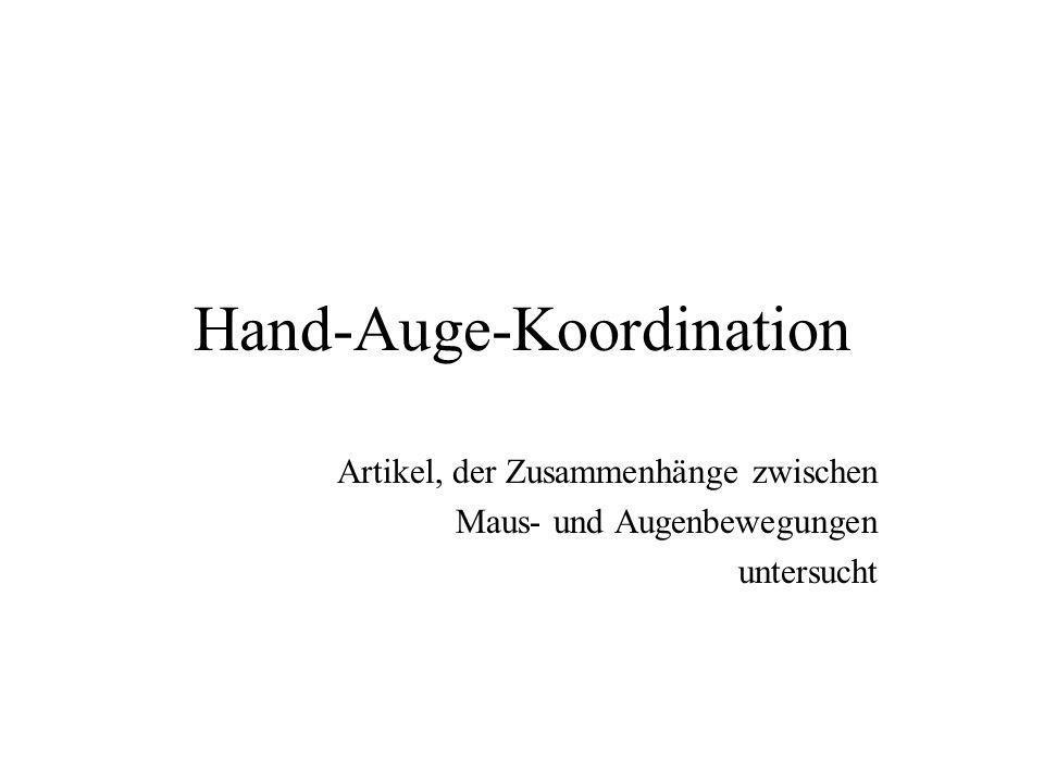 Hand-Auge-Koordination