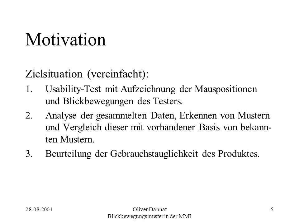 Oliver Dannat Blickbewegungsmuster in der MMI