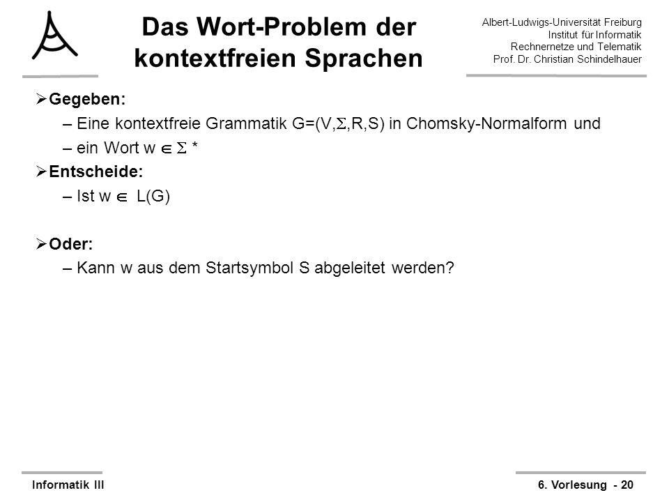 Das Wort-Problem der kontextfreien Sprachen