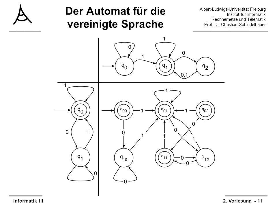 Der Automat für die vereinigte Sprache