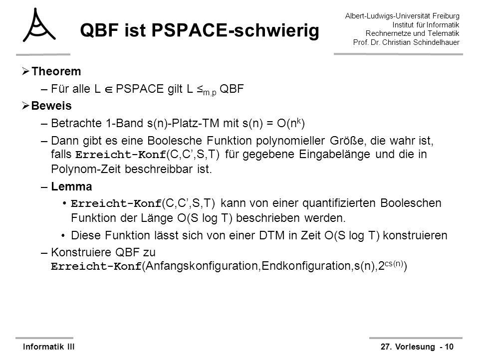 QBF ist PSPACE-schwierig