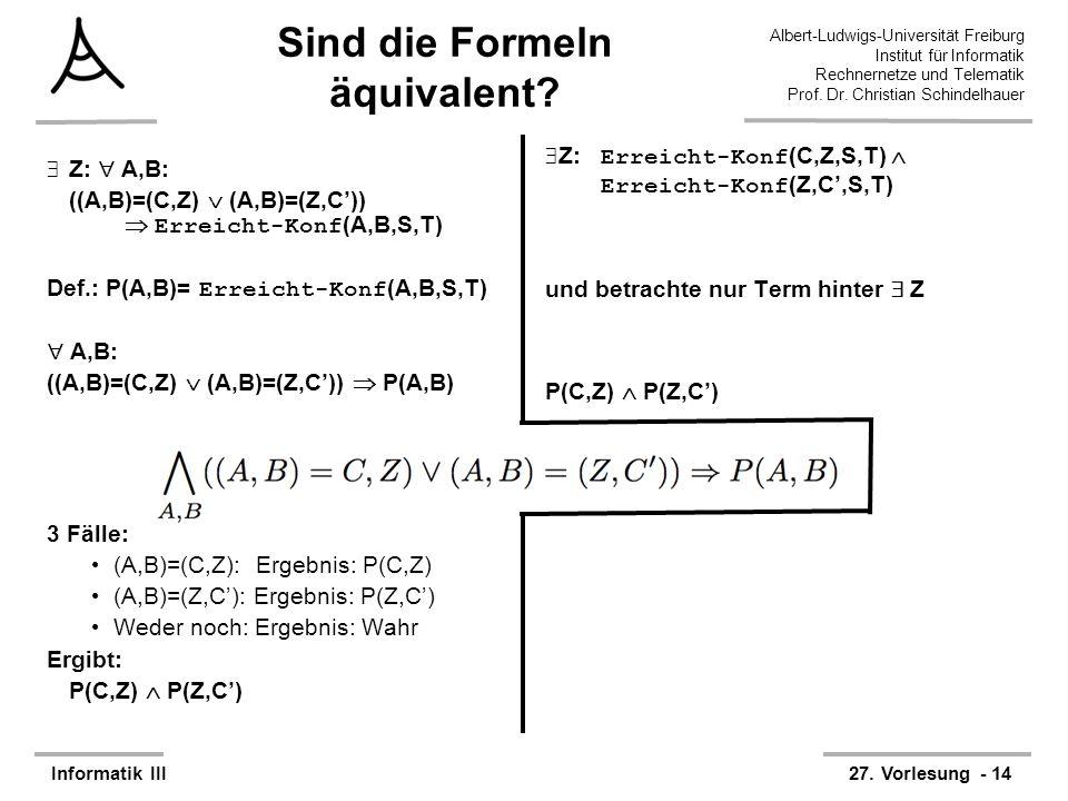 Sind die Formeln äquivalent