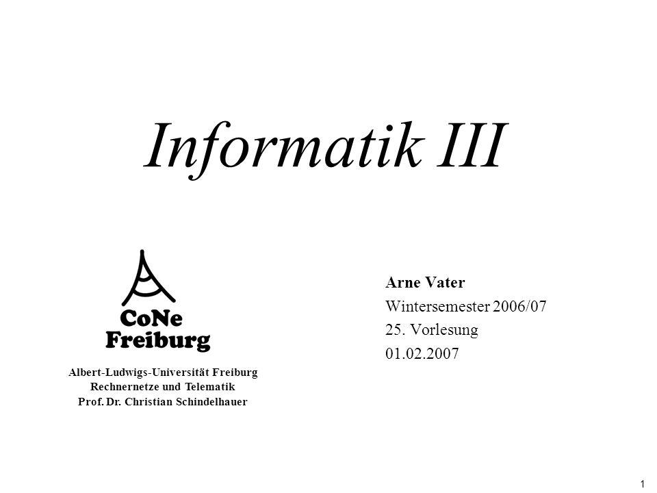 Arne Vater Wintersemester 2006/07 25. Vorlesung 01.02.2007