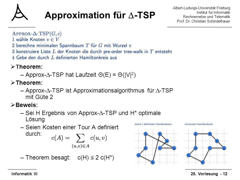 Approximation für -TSP