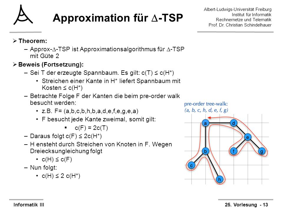 Approximation für -TSP