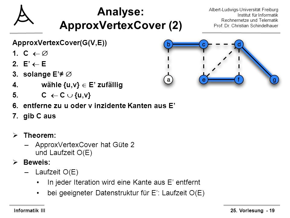 Analyse: ApproxVertexCover (2)