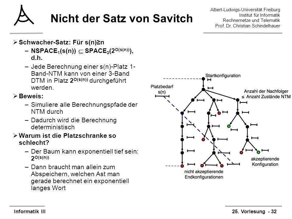 Nicht der Satz von Savitch