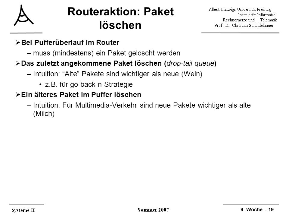 Routeraktion: Paket löschen