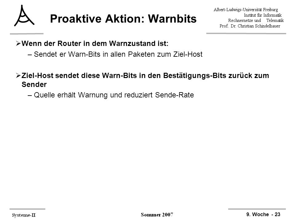 Proaktive Aktion: Warnbits